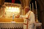 A BLUE CANDLE BURNS FOR JUSTICE IN NEWCASTLE CATHEDRAL